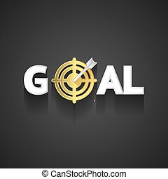 Elegant Goal Logo Design on Gray Background