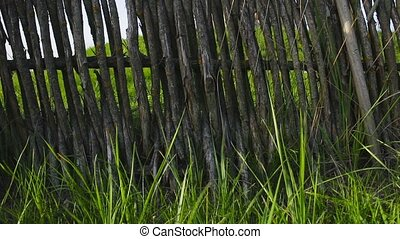 rustic fence, shoot with slider