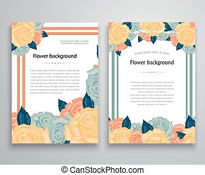 Vector ornate flowers background. Easy to edit. Perfect for invitations or announcements.