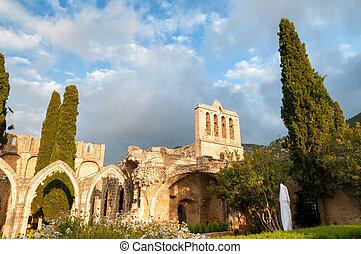 Bellapais, medieval Abbey near Kyrenia, Cyprus.