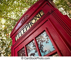 British Phone Booth - Typical London telephone booth