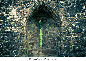 Arrowslit - Arrow slit in medieval castle