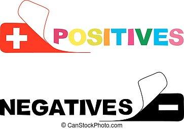 positive. negative