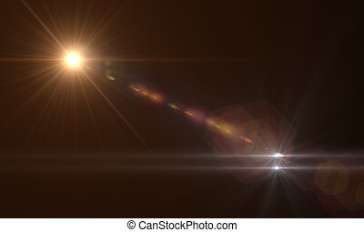 lens flare - star with lens flare and bokeh effect made in...