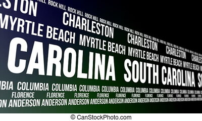 South Carolina State Major Cities - Animated scrolling...