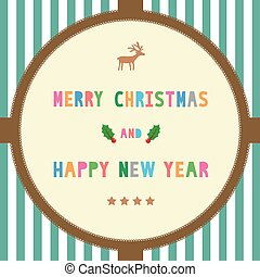 MC and HNY greeting card16 - Card for Merry Christmas and...