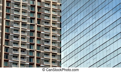 Glass facade of modern building - Glass facade of modern...