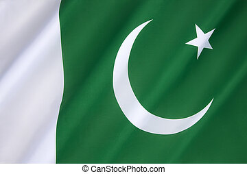 Flag of Pakistan - adopted in its present form during a...