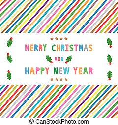 MC and HNY greeting card15 - Card for Merry Christmas and...