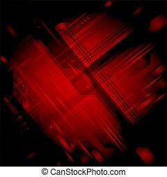 pretas, textura, fundo, vermelho