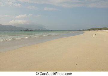 Balnakeil beach. - A view across the white sandy beach at...