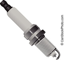 Automotive spark plug for motor gasoline engines. Vector...