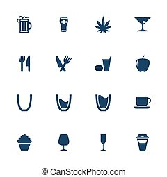 Food and drink icons - Set of icons for food and drink in...