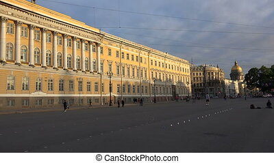 The General staff on Palace square Saint-Petersburg Shot in...