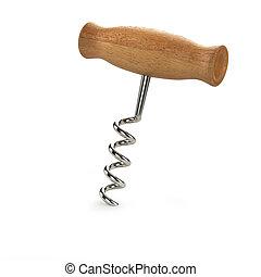 3d Corkscrew - 3d render of a corkscrew