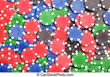 Chaos abstract color photo closeup - Gaming chips Chaos...