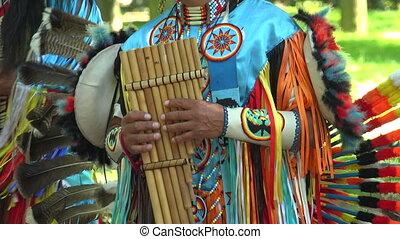 Indian street musicians.