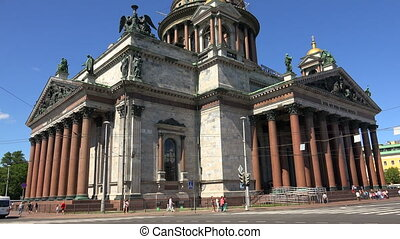 St. isaac's cathedral in St. Petersburg. Shot in 4K...