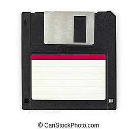 black diskette isolated on white background