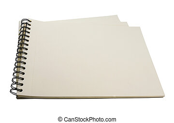 note paper on white background.