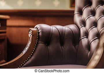 Soft leather chair - Soft leather Armchair in his office