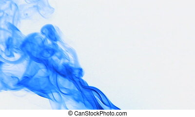 color smoke 10 - Colored fluid slow motion on white...