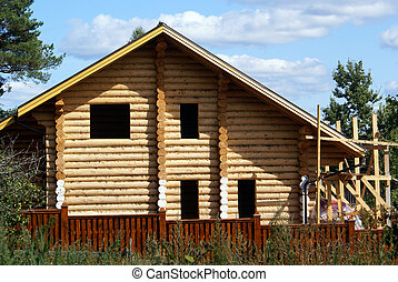 Wooden house - New wooden house in the Nylova Pustyn,...