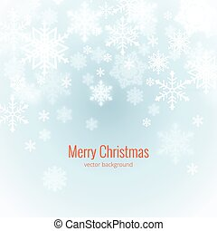 winter background with snowflakes vintage vector...
