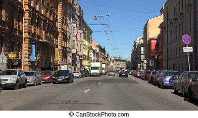 Millionnaya street. Saint-Petersburg. Shot in 4K (ultra-high...