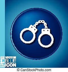 icon handcuffs. symbol of justice . police icon