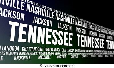 Tennessee State and Major Cities - Animated scrolling banner...