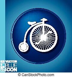 retro bicycle icon