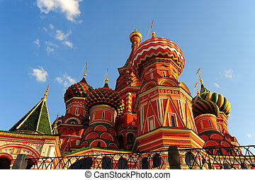 Cathedral - Saint Basils Cathedral On Red Square In Moscow...