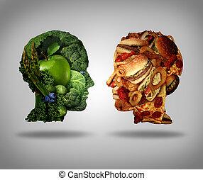 Lifestyle Choice - Lifestyle choice and dilemma concept as a...