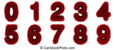 numbers of red grass concept