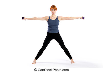 Fitness Woman doing Aerobic Exercise