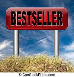 bestseller best seller top product or book, most wanted item...