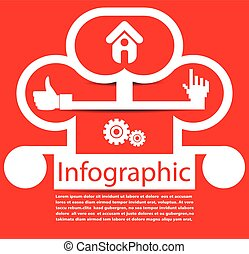 abstract infographic vector background