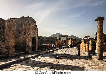 pompeii - archeologic ruins of Pompeii in Italy