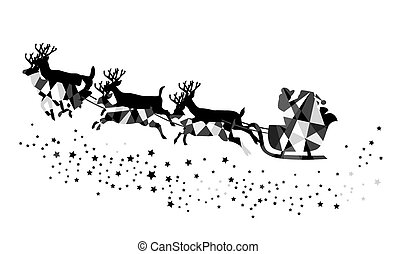 Santa Claus - vector Santa Claus flying