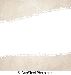 ripped open old vintage paper - vector of ripped openold...