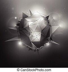 ciencia ficción, vector, Ilustración,