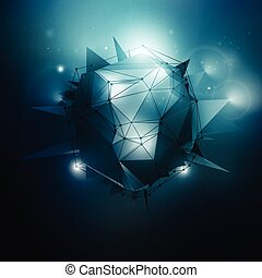 Sci-Fi Vector Illustration - Sci-Fi polygonal vector...