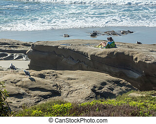 Lounging on the Beach in La Jolla