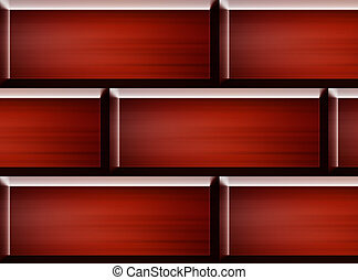 Bricks wall - Red bricks construction. Abstract and empty...