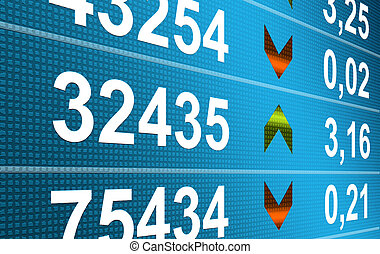 Finance - Business: Blue numbers dynamic design. Finance...