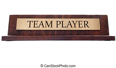 Team player name plate - wooden nameplate with Team Player...