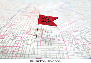 We're moved - We've moved pin flag on map...