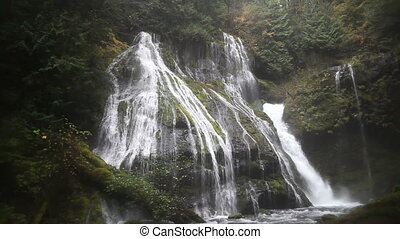 Panther Creek Waterfalls Washington - Panning Movie of...