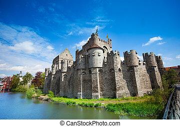 Gravensteen castle in Ghent, Belgium, Europe